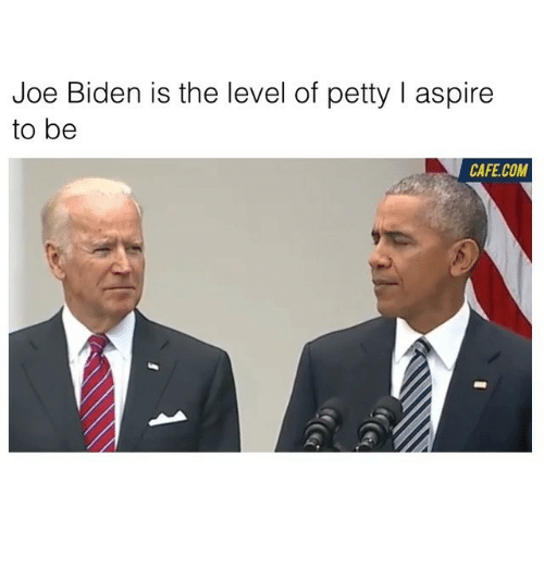 Funny, Joe Biden, and Biden: Joe Biden is the level of petty l aspire  to be  CAFE COM