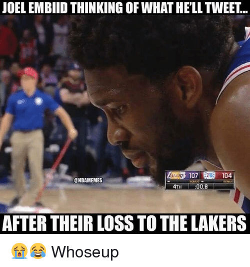 b558274a0 JOEL EMBIID THINKING OF WHAT HE LL TWEET 4TH 008 AFTER THEIR LOSS TO ...