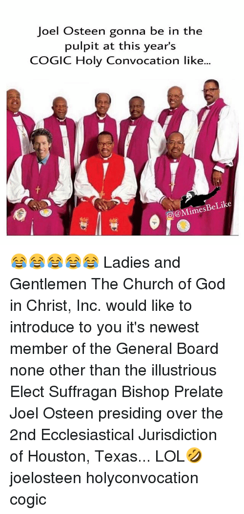Joel Osteen Gonna Be in the Pulpit at This Year's COGIC Holy