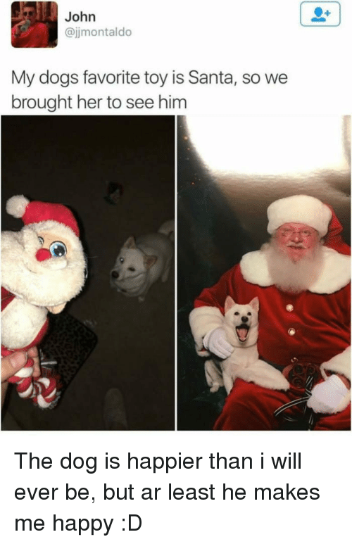 John My Dogs Favorite Toy Is Santa So We Brought Her to See