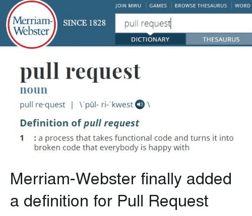 JOIN MWU GAMES BROWSE THESAURUS WORD Merriam-L Sn Webster