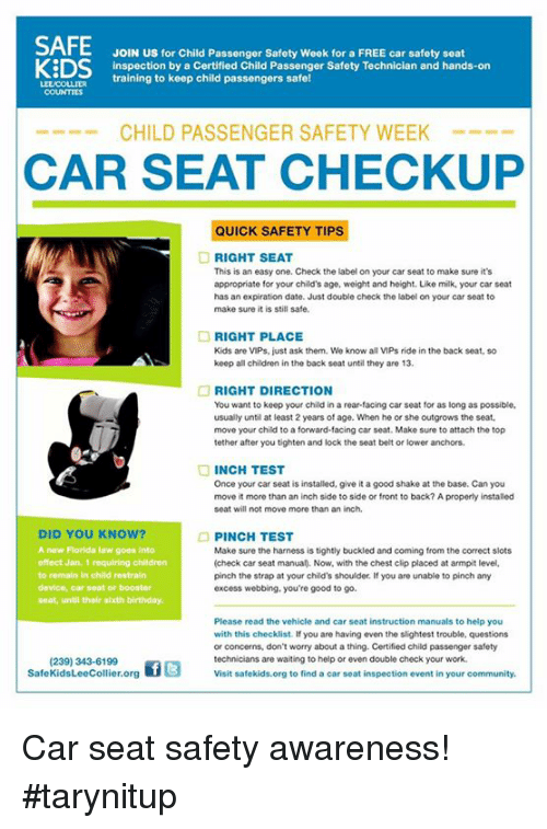 Birthday Children And Community JOIN US For Child Passenger Safety Week A
