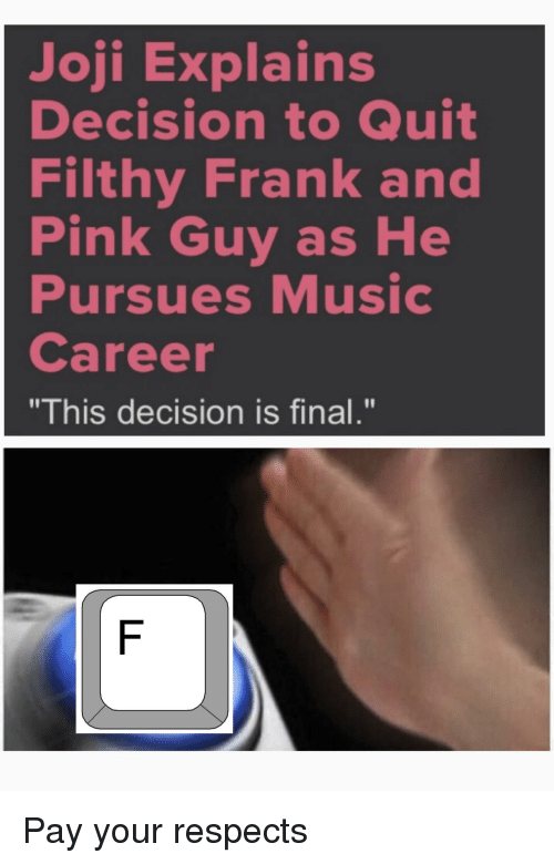 Joji Explains Decision to Quit Filthy Frank and Nk Guy as He