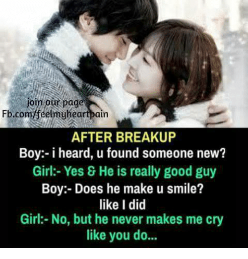 how to talk to a new girl after a breakup