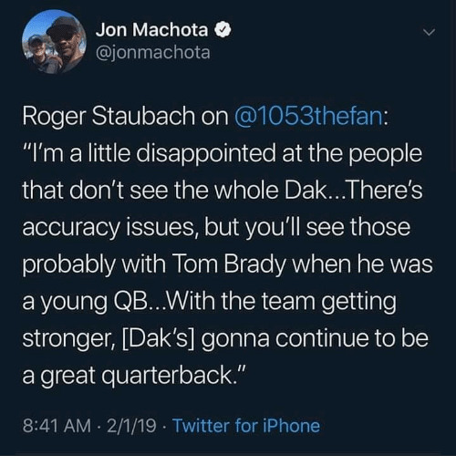 0e5f1ac5a Jon Machota Roger Staubach on I m a Little Disappointed at the ...
