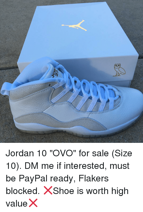 buy online 23379 11142 Jordan 10 OVO for Sale Size 10 DM Me if Interested Must Be ...