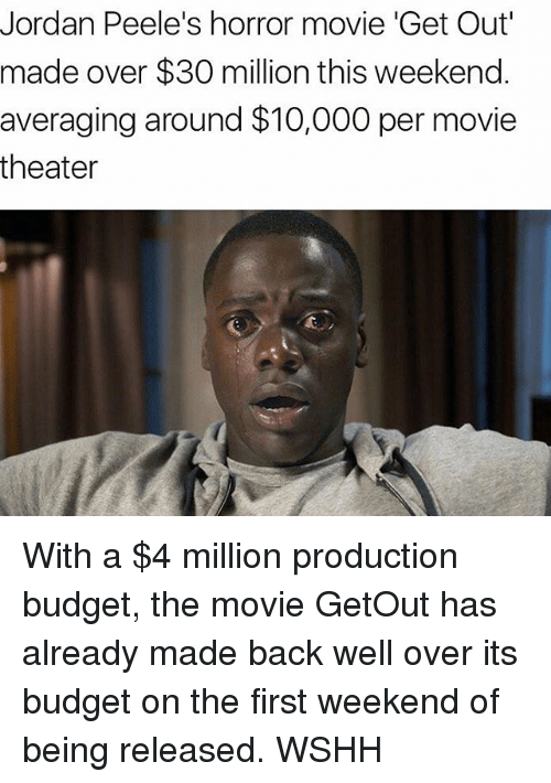 Jordan Peeles Horror Movie Get Out Made Over 30 Million This