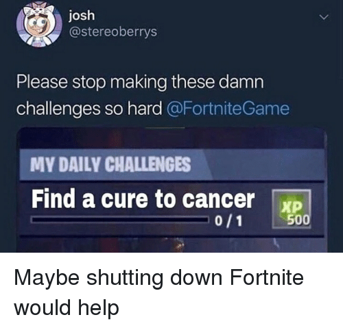 Josh Please Stop Making These Damn Challenges So Hard My Daily