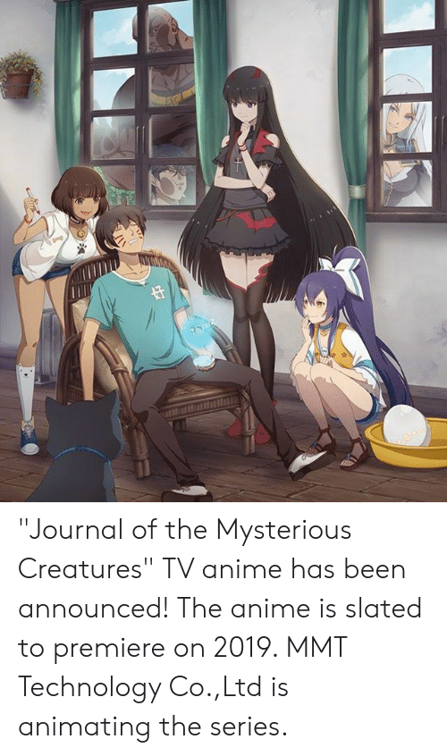 Journal of the Mysterious Creatures TV Anime Has Been
