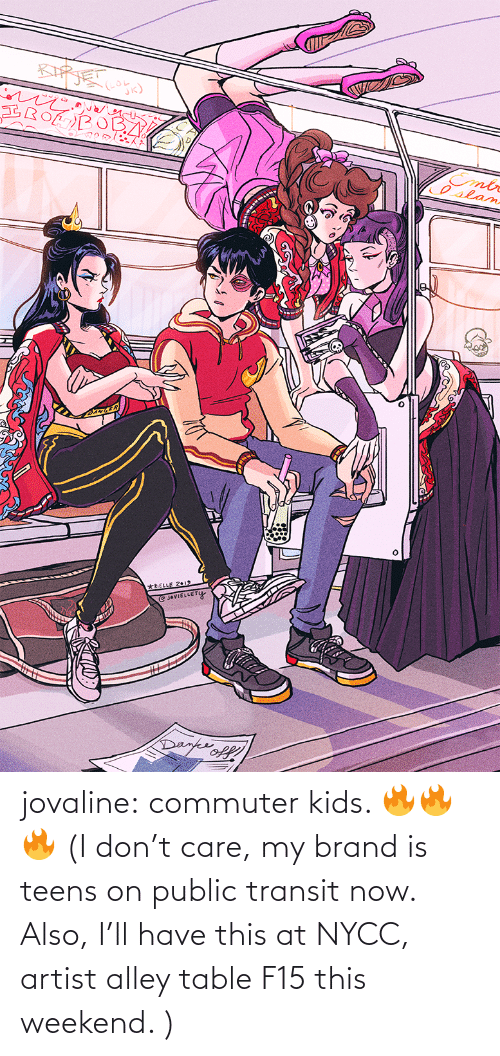 Target, Tumblr, and Blog: jovaline: commuter kids. 🔥🔥🔥 (I don't care, my brand is teens on public transit now. Also, I'll have this at NYCC, artist alley table F15 this weekend. )