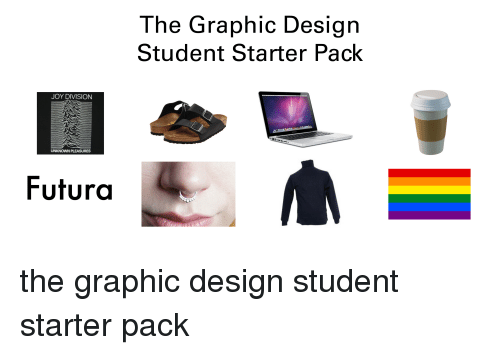 Starter Packs, Starter Pack, and Joyful: JOY DIVISION  UNKNOWN PLEASURES  Futura  The Graphic Design  Student Starter Pack the graphic design student starter pack
