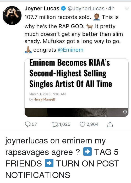 Joyner Lucas 4h 1077 Million Records Sold This Is Why He's the RAP