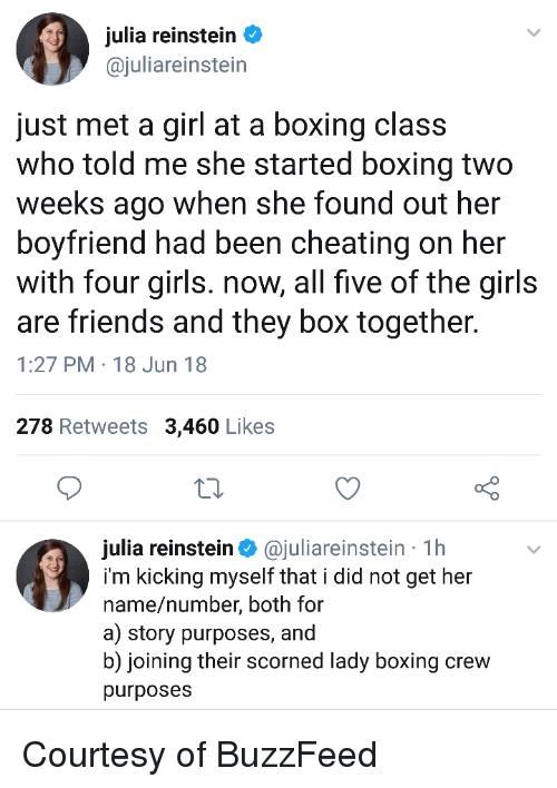Julia Reinsten Just Met a Girl at a Boxing Class Who Told Me
