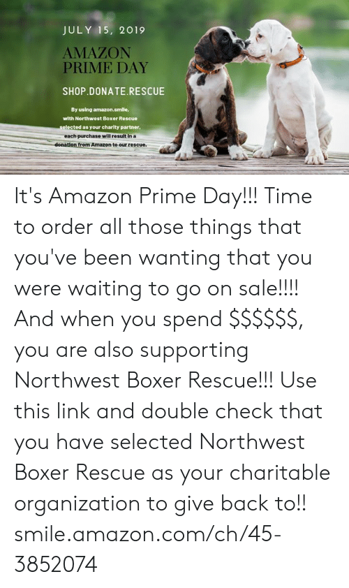 JULY 15 2019 AMAZON PRIME DAY SHOPDONATERESCUE by Using Amazonsmlle