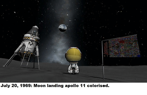 Apollo Moon And July 20 1969 Landing
