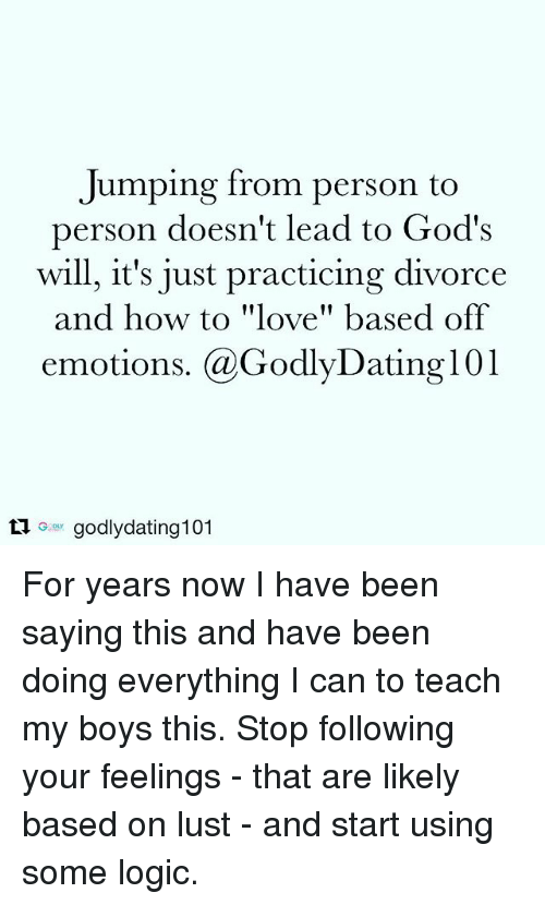 godly dating and feelings