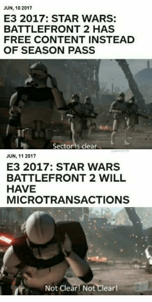 JUN 10 2017 E3 2017 STAR WARS BATTLEFRONT 2 HAS FREE CONTENT
