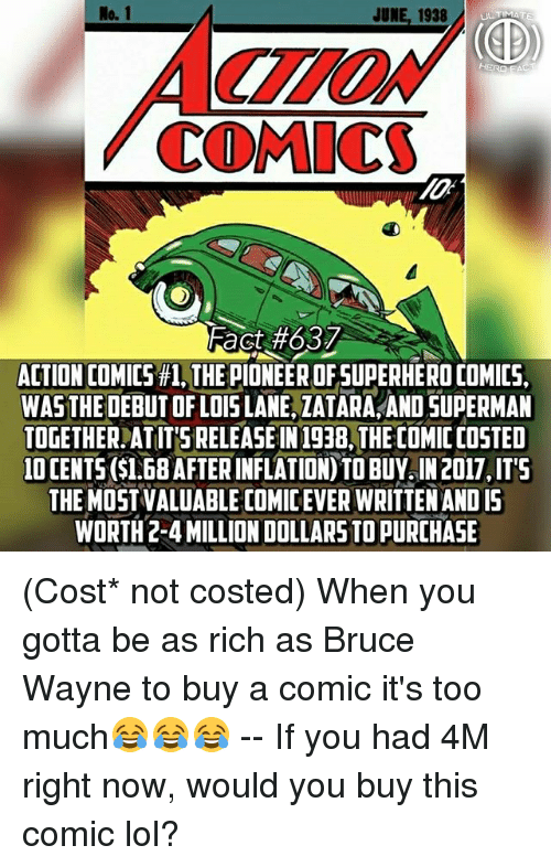 JUNE 1938UIMATE COMIC Fact#637 ACTION COMICS #1 THE PIONEER
