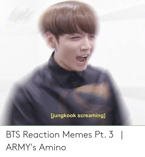 Jungkook Screaming Bts Reaction Memes Pt 3 Army S Amino Meme