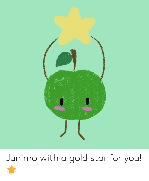 Star, Gold, and You: Junimo with a gold star for you! 🌟