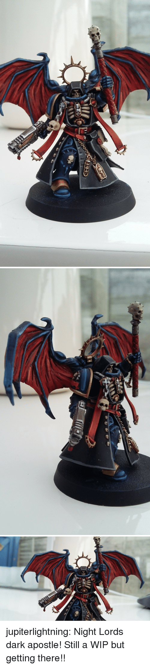 Tumblr, Blog, and Http: jupiterlightning:  Night Lords dark apostle! Still a WIP but getting there!!