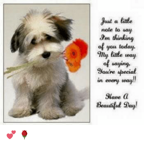 Just A Little Note To Say Om Thinking Of You Today Any Little Way Of