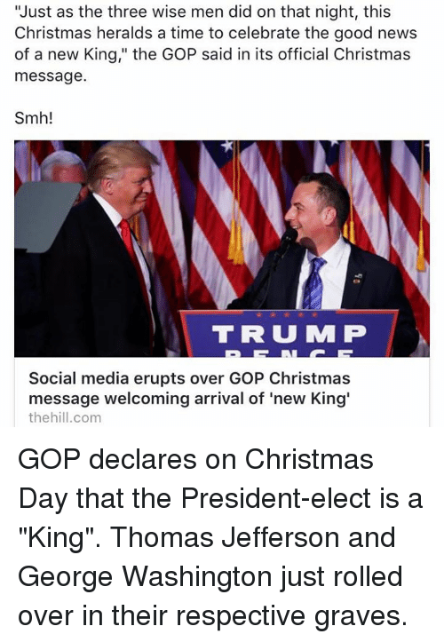 Gop Christmas Message.Just As The Three Wise Men Did On That Night This Christmas