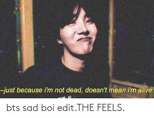 Just Because I M Not Dead Doesn T Mean I M Alive Bts Sad Boi