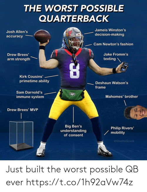 Football, Nfl, and Sports: Just built the worst possible QB ever https://t.co/1h92aVw74z