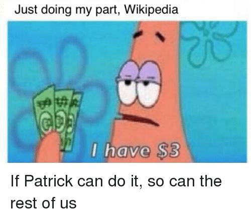 9b3f5111e501 Just Doing My Part Wikipedia L Have  3