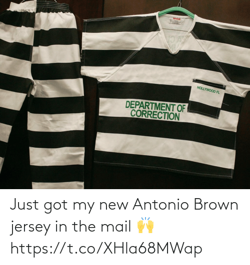 Football, Nfl, and Sports: Just got my new Antonio Brown jersey in the mail 🙌 https://t.co/XHla68MWap