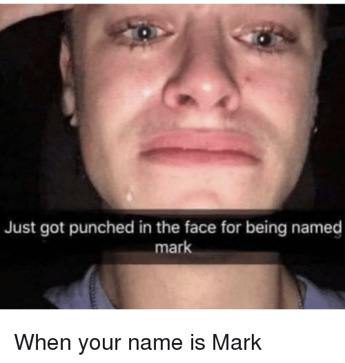 Just Got Punched in the Face for Being Named Mark | Reddit Meme on ME ME