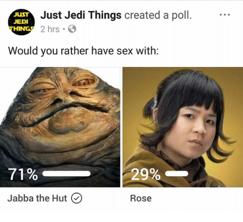 What are jedis opinions on sex