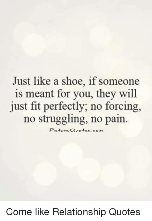 Just Like A Shoe If Someone Is Meant For You They Will Just Fit