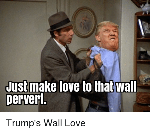 Love, Politics, and Make: Just make love to that wall  Dervert