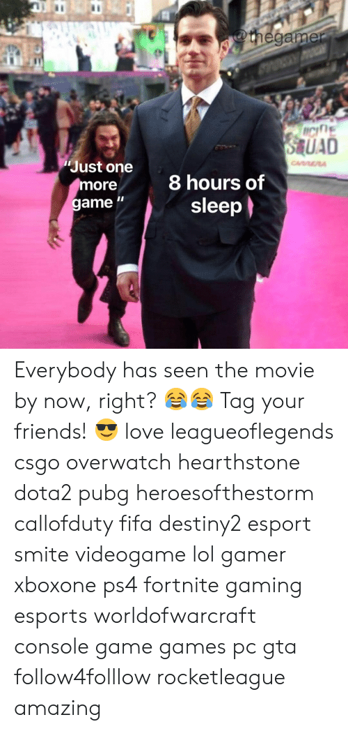 """Fifa, Friends, and Lol: Just one  more  game """"  8 hours of  sleep Everybody has seen the movie by now, right? 😂😂 Tag your friends! 😎 love leagueoflegends csgo overwatch hearthstone dota2 pubg heroesofthestorm callofduty fifa destiny2 esport smite videogame lol gamer xboxone ps4 fortnite gaming esports worldofwarcraft console game games pc gta follow4folllow rocketleague amazing"""