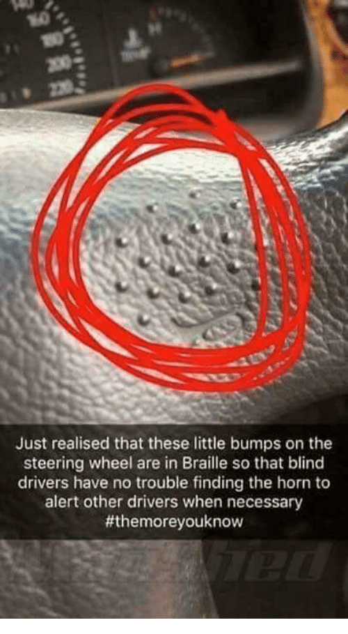 Just Realised That These Little Bumps On The Steering