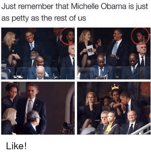 Just Remember That Michelle Obama Is Just as Petty as the ...