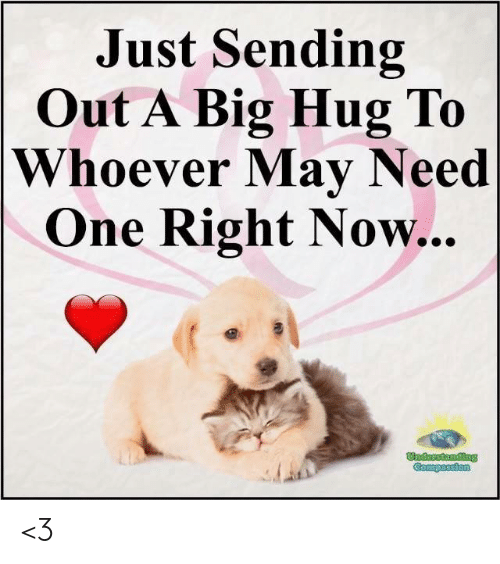 Memes, 🤖, and Big: Just Sending  Out A Big Hug To  Whoever May Need  One Right Now... <3