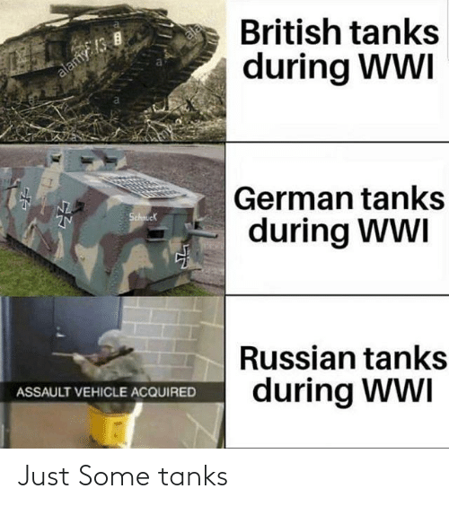 History, Tanks, and Just: Just Some tanks