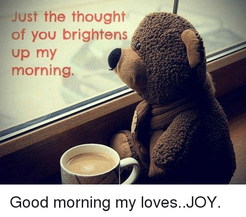 Just The Thought Of You Brightens Up My Morning Good Morning My