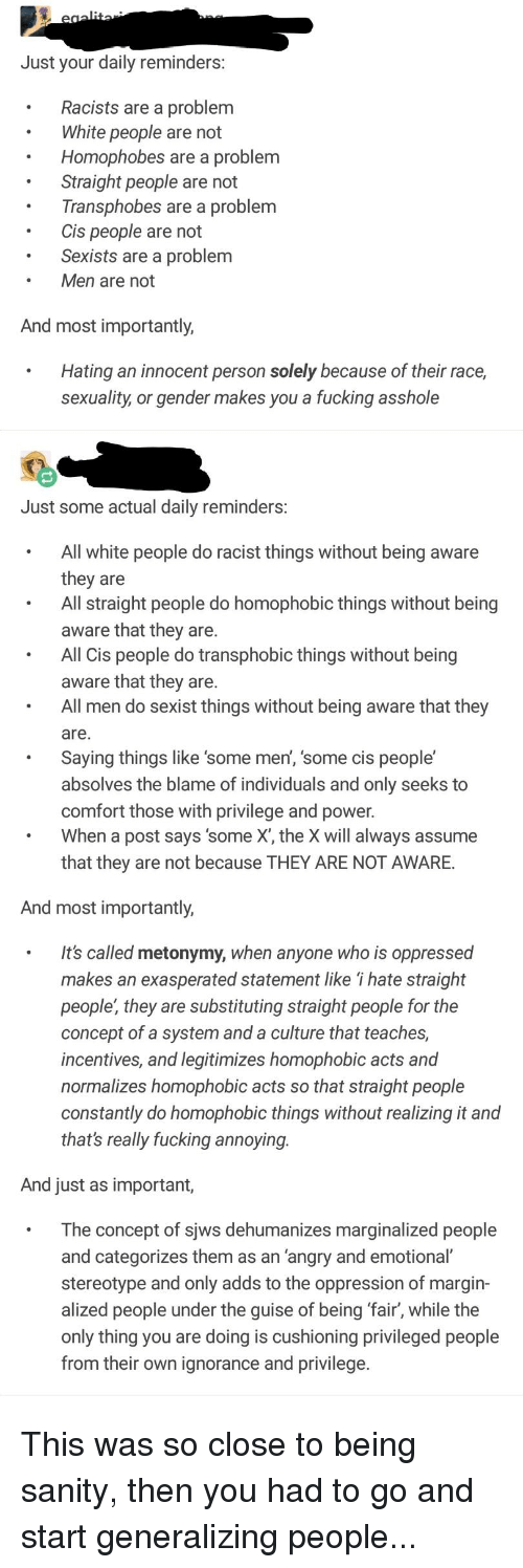 Just Your Daily Reminders Racists Are a Problem White People