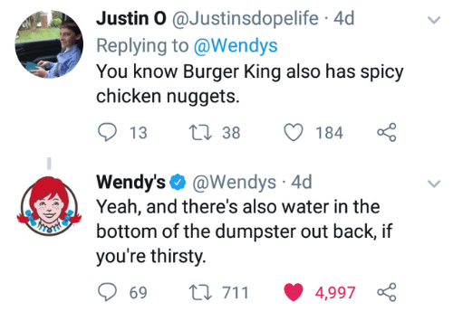 Justin O 4d Replying To You Know Burger King Also Has