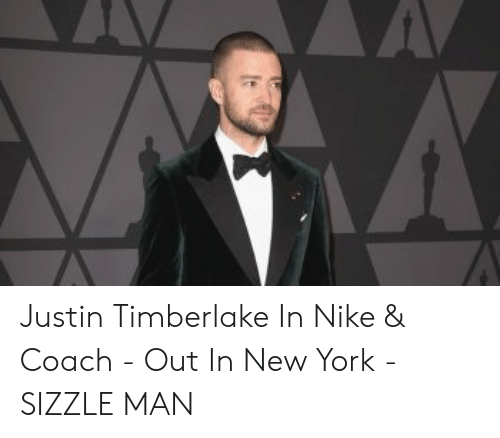 hot sale online 1f98e ca782 Justin Timberlake in Nike & Coach - Out in New York - SIZZLE ...
