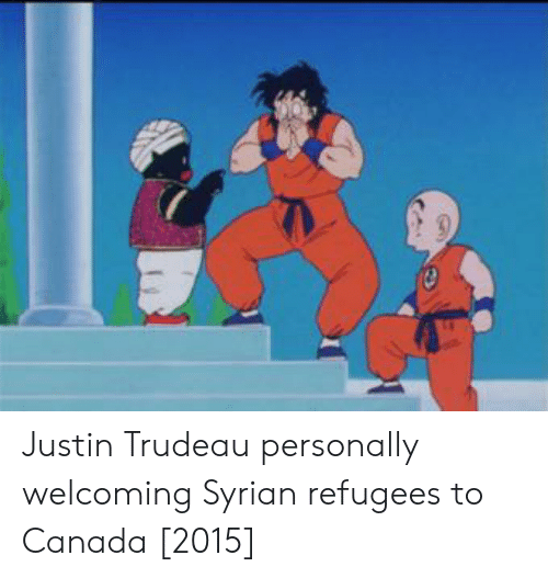 Canada, Justin Trudeau, and Justin: Justin Trudeau personally welcoming Syrian refugees to Canada [2015]