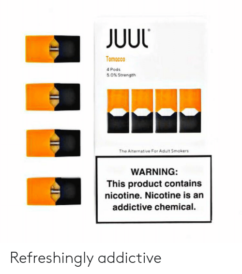 JUUL Tomacco 4 Pods 50% Strength the Alternative for Aduit