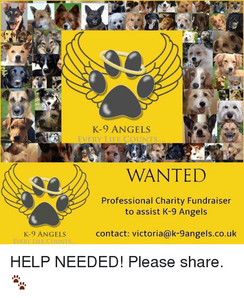 k-9-angels-every-life-counts-wanted-professional-charity-fundraiser-to-18835019.png c96790b54a9