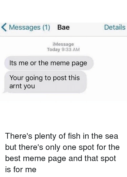 25 best memes about bae bae memes for Fish in the sea meme