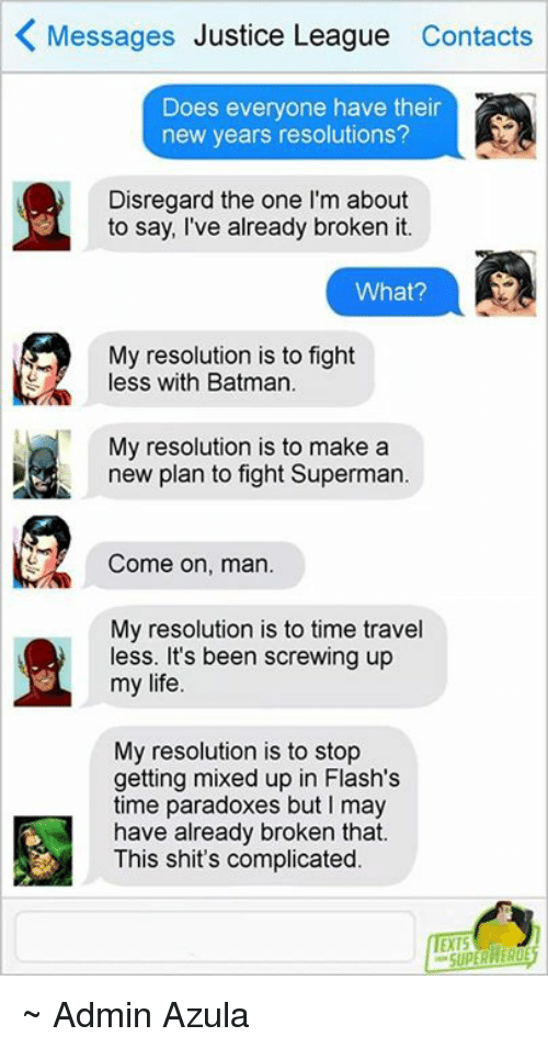 K Messages Justice League Contacts Does Everyone Have Their New ...