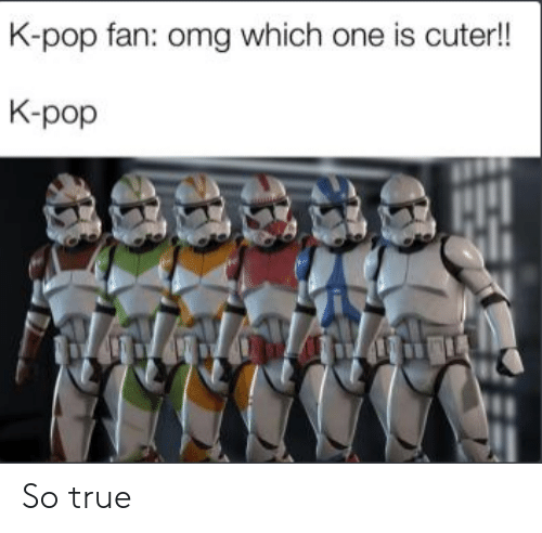 Omg, Pop, and True: K-pop fan: omg which one is cuter!!  K-pop So true